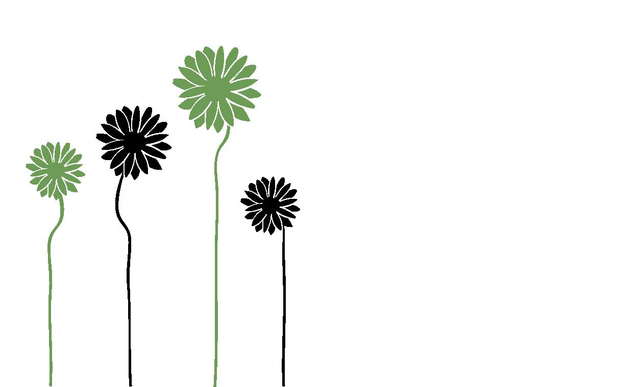 メッセージカードテンプレート「花」ダウンロード|かわいい無料イラスト