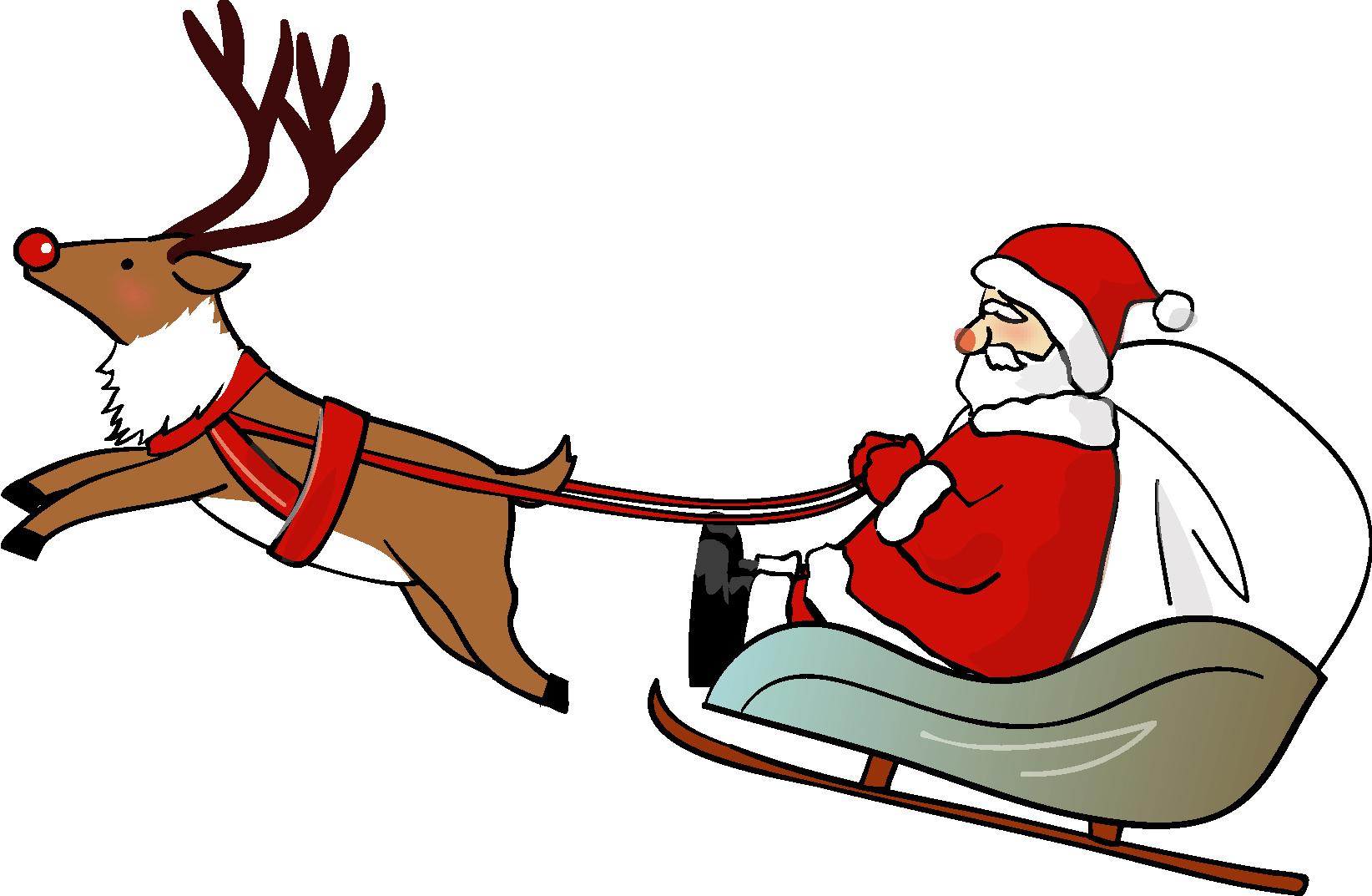 サンタクロースとトナカイ,ダウンロード|かわいい無料イラスト