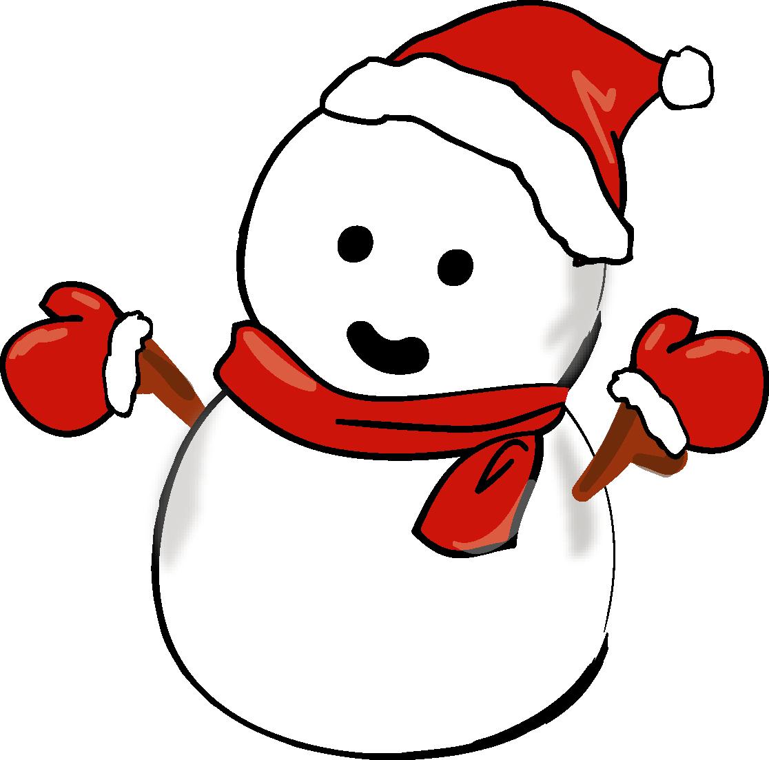 クリスマス・雪だるま-ダウンロード|かわいい無料イラスト 印刷素材