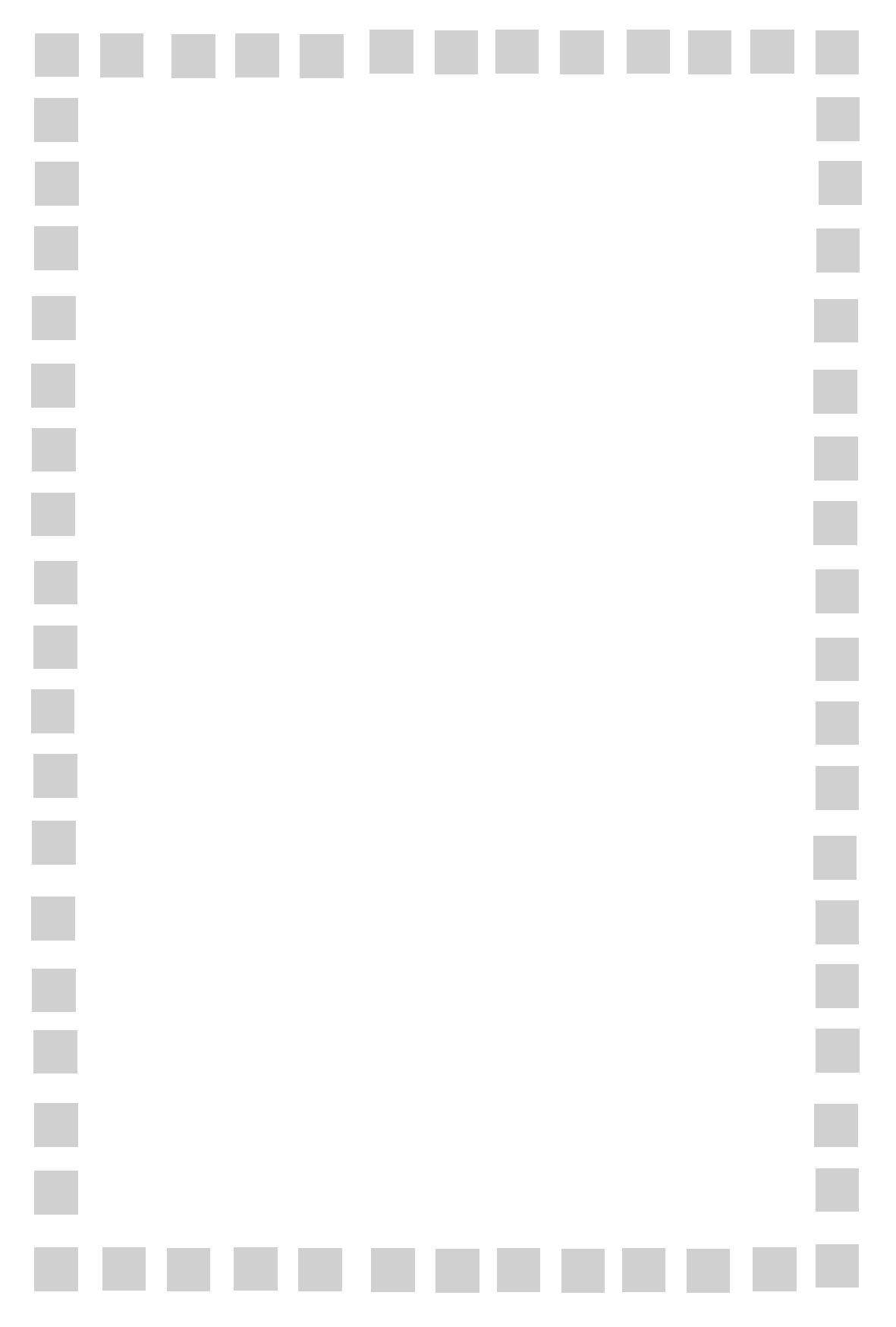 色々な柄】飾り枠フレームのメッセージカード【無料印刷素材