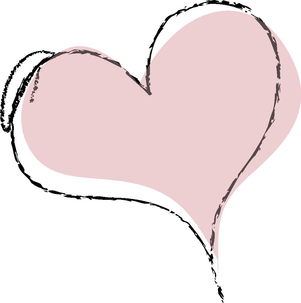 すべての講義 名前ラベルシール : バレンタイン・手描きのハート ...
