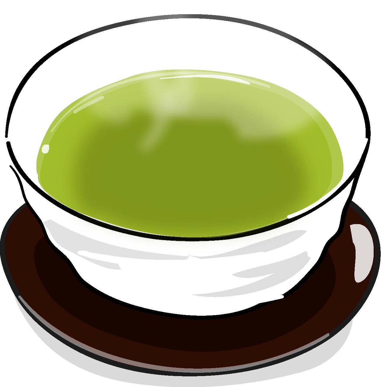 すべての講義 名前ラベルシール : ほっと一息緑茶のイラスト素材
