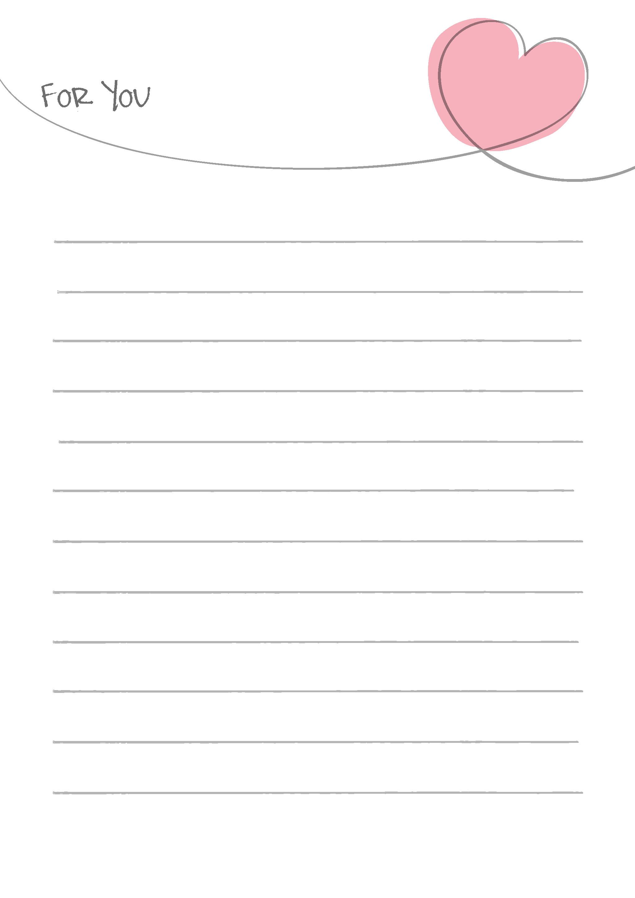 すべての講義 便箋 ダウンロード : 便箋テンプレート「シンプルな ...