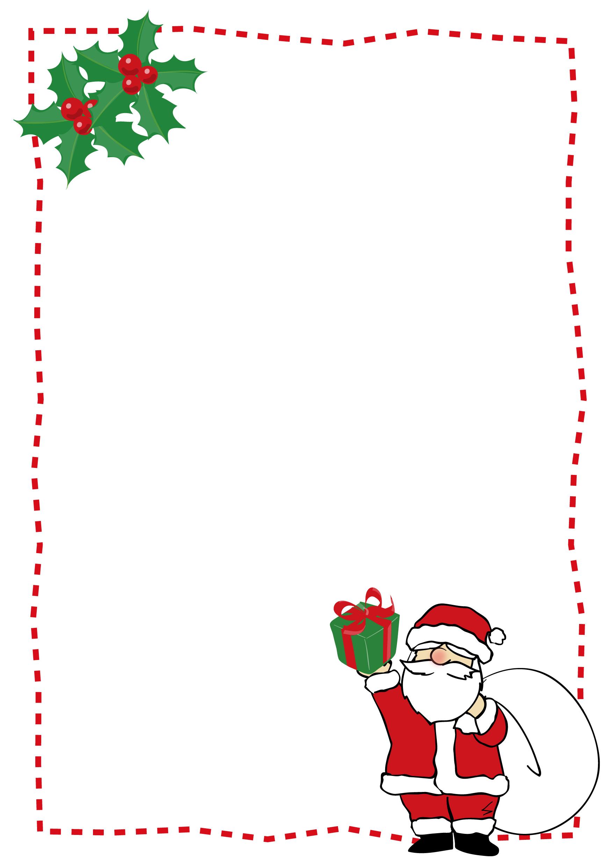 便箋テンプレート「クリスマス・プレゼントだよ!サンタクロース