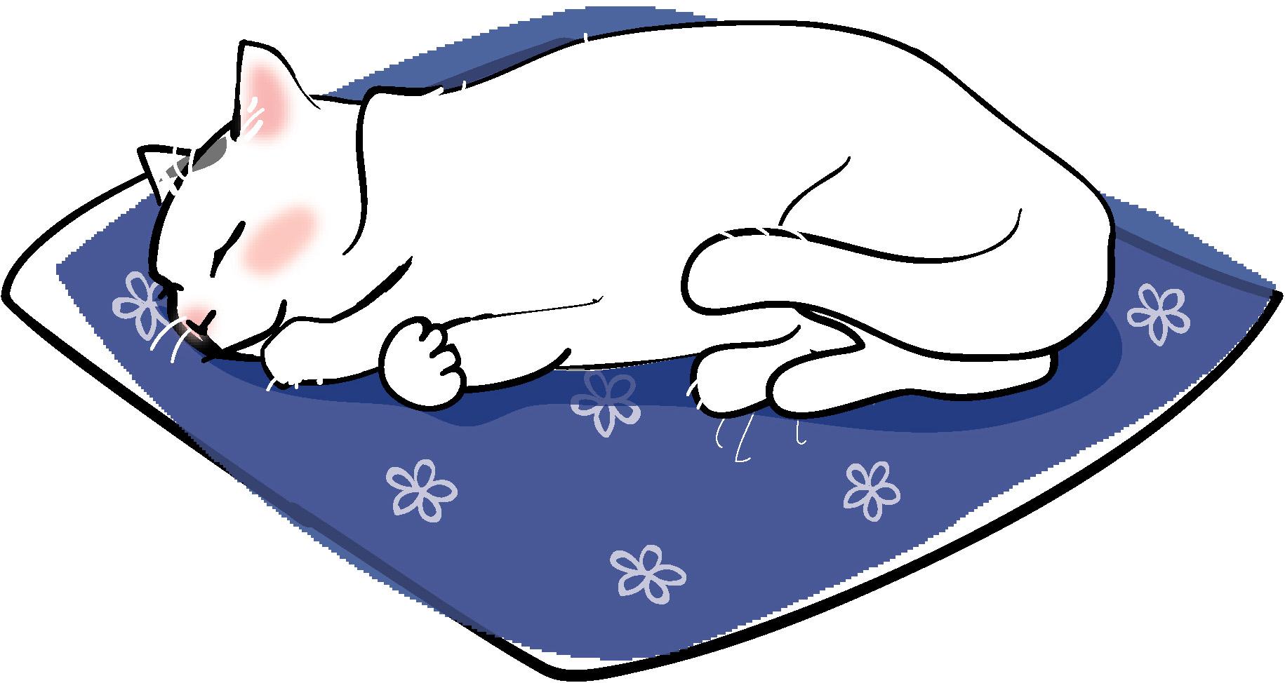 お昼寝猫3-ダウンロード|かわいい無料イラスト 印刷素材