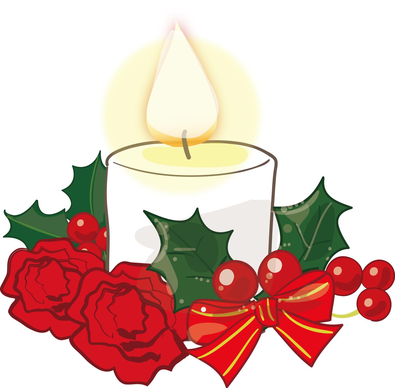 クリスマスキャンドル-ダウンロード|かわいい無料イラスト 印刷素材