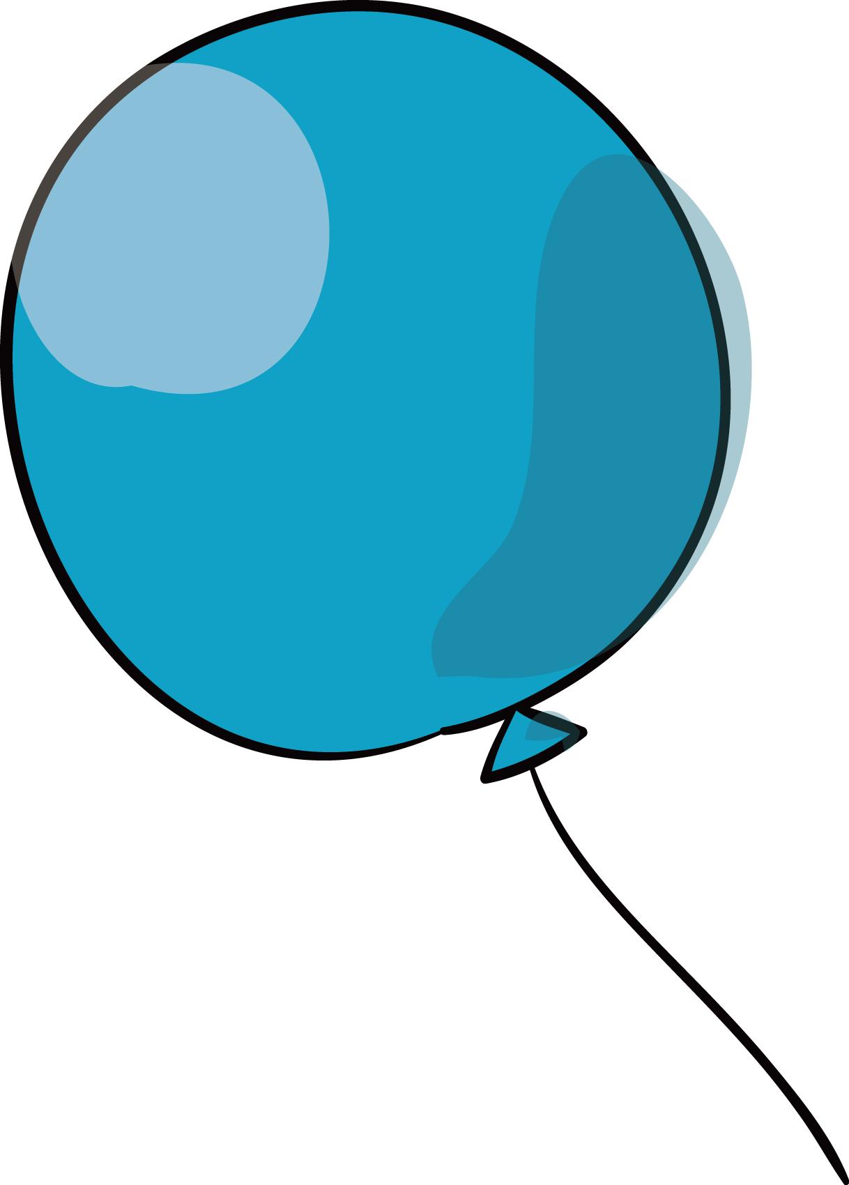 無料イラスト素材「青い風船」ダウンロード