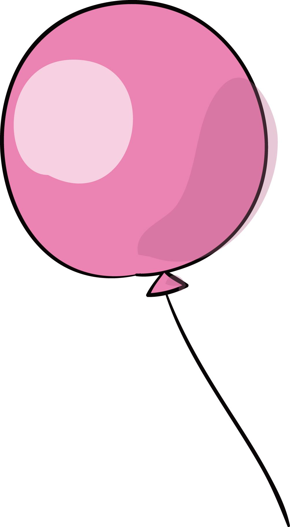 ピンクの風船」ダウンロード|かわいい無料イラスト 印刷素材