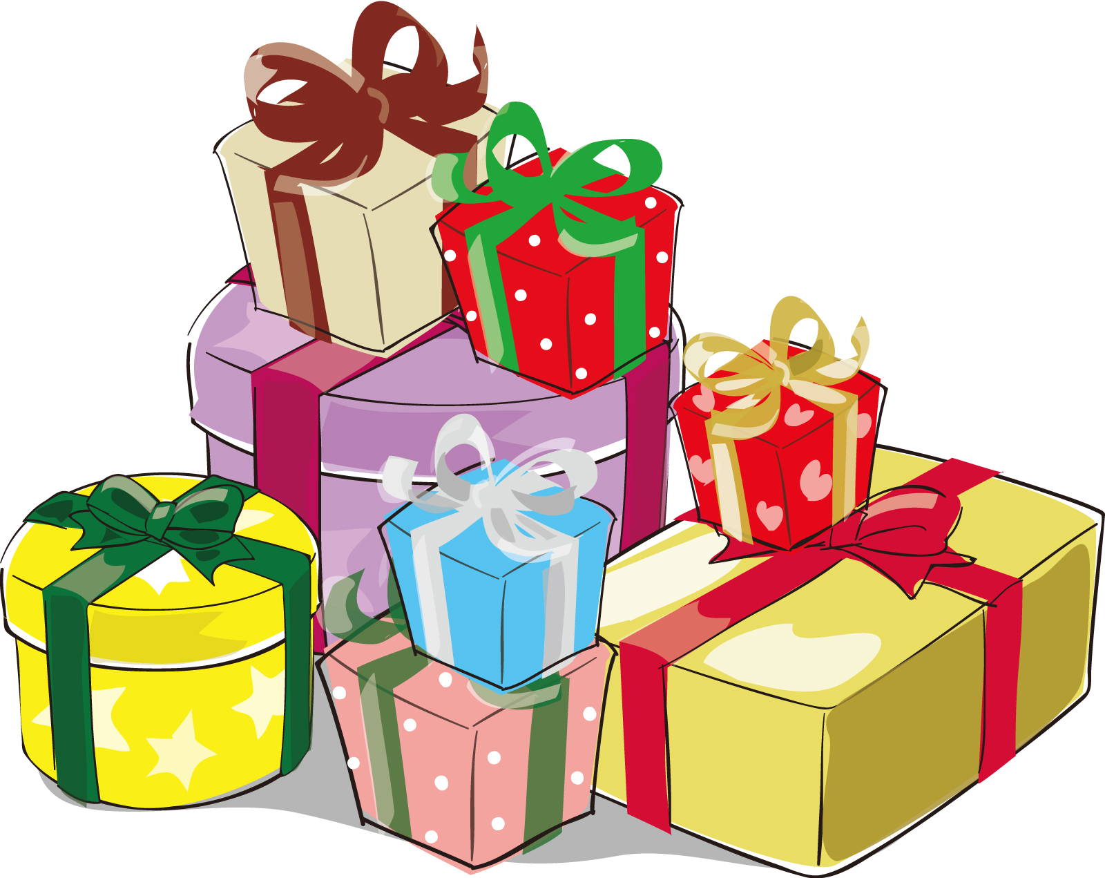 プレゼントボックス3」ダウンロード かわいい無料イラスト 印刷