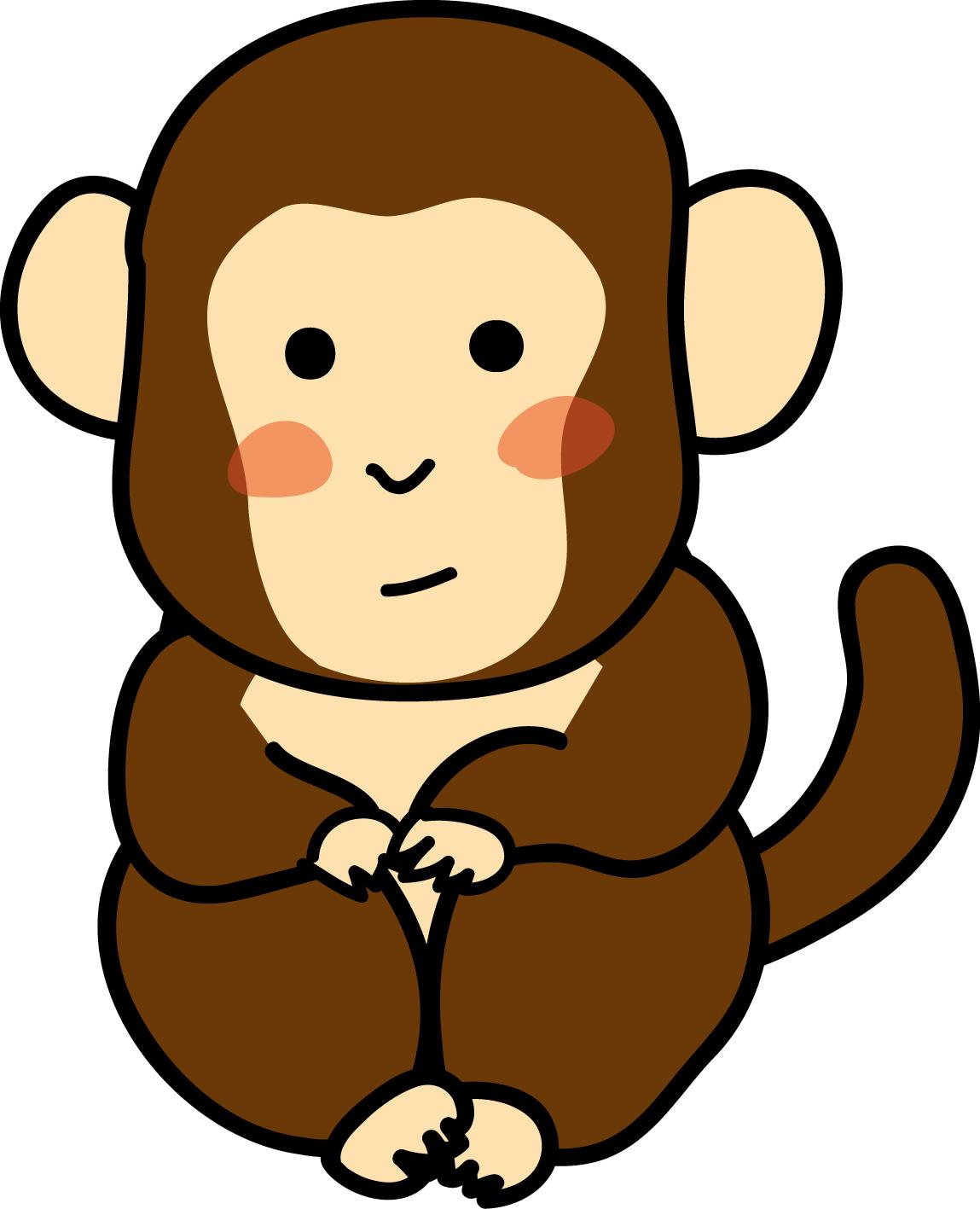 小猿-ダウンロード かわいい無料イラスト 印刷素材