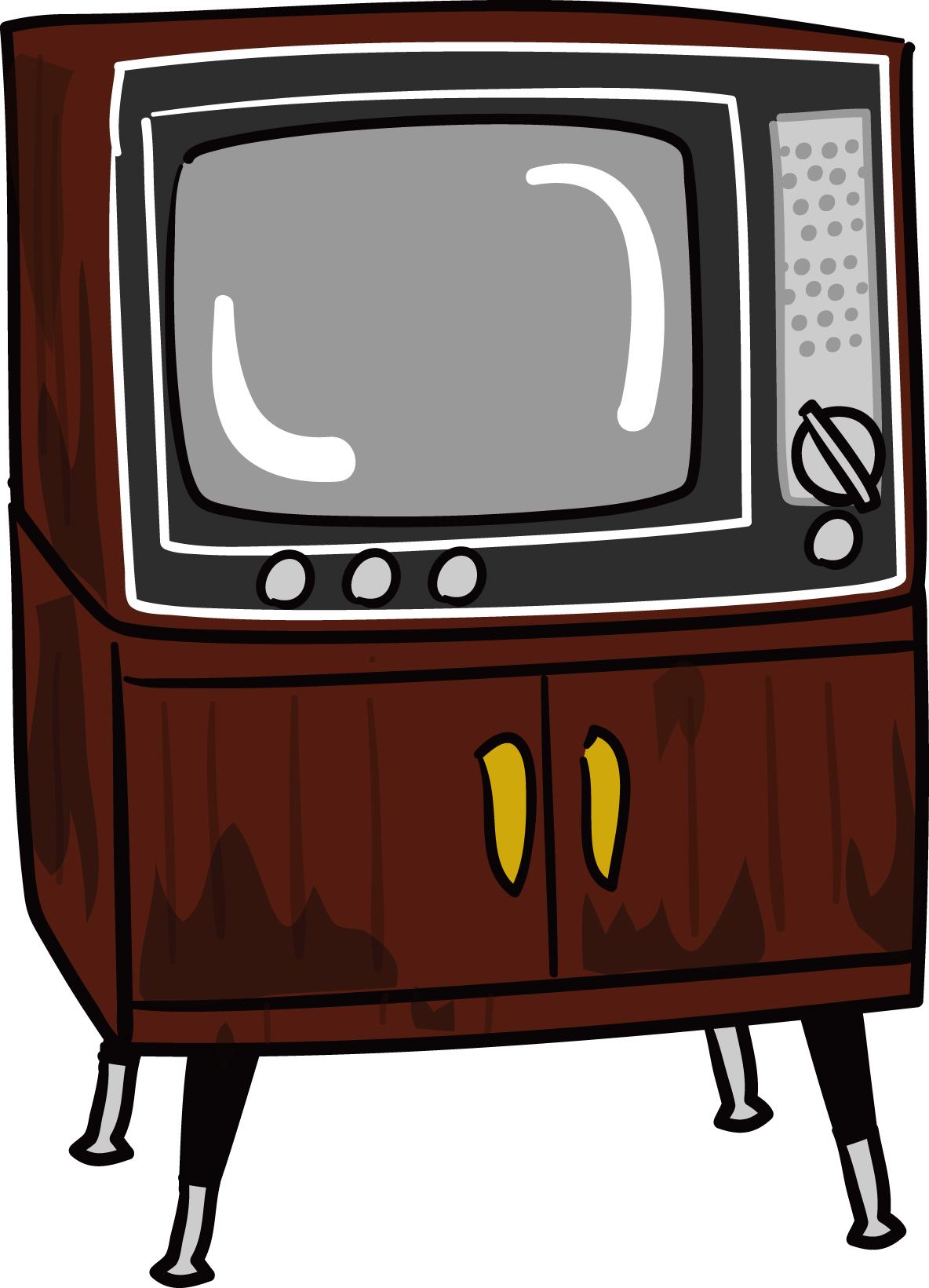 素材「レトロなテレビ」ダウンロード|かわいい無料イラスト 印刷素材