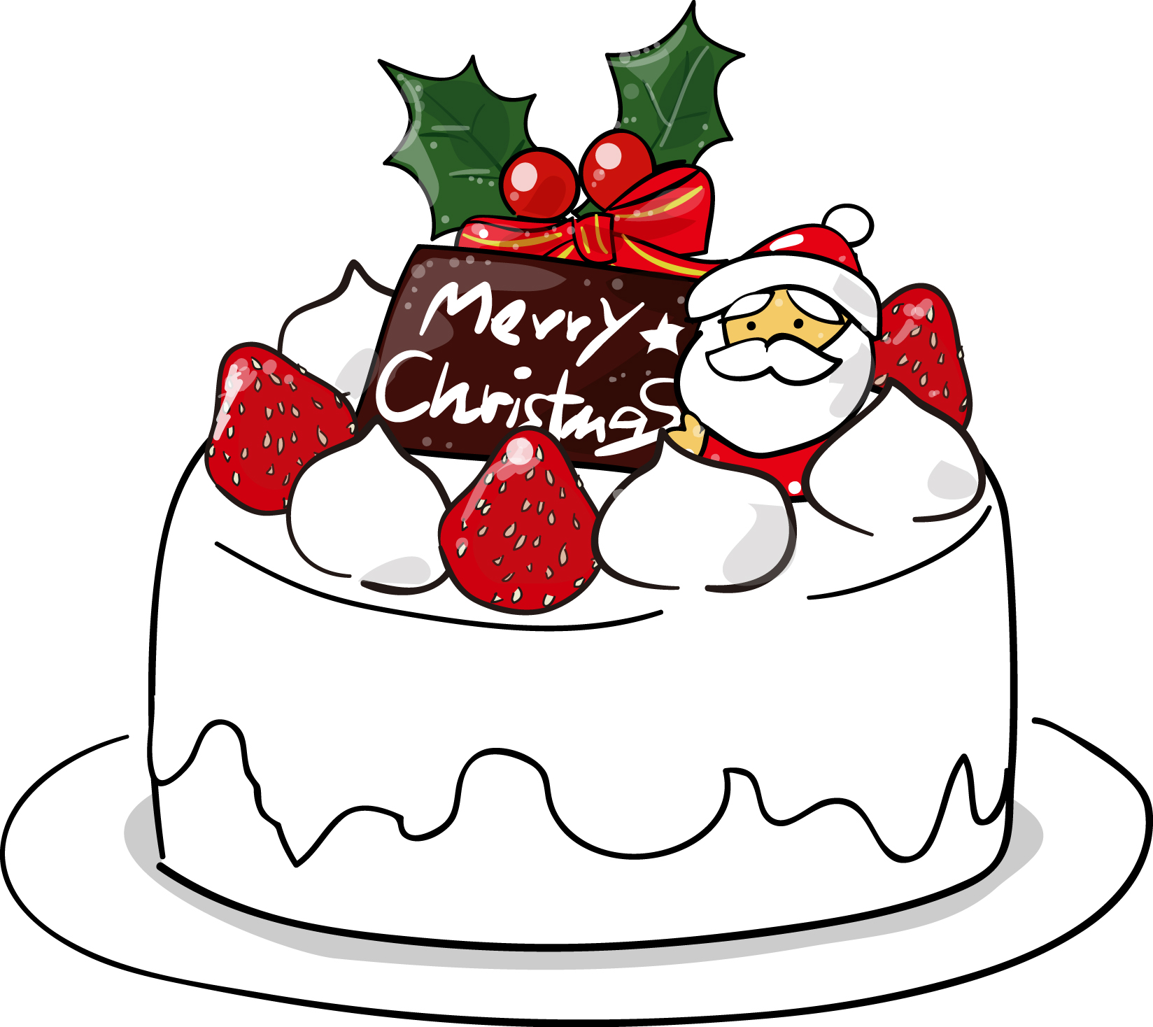 「クリスマスケーキ イラスト」の画像検索結果