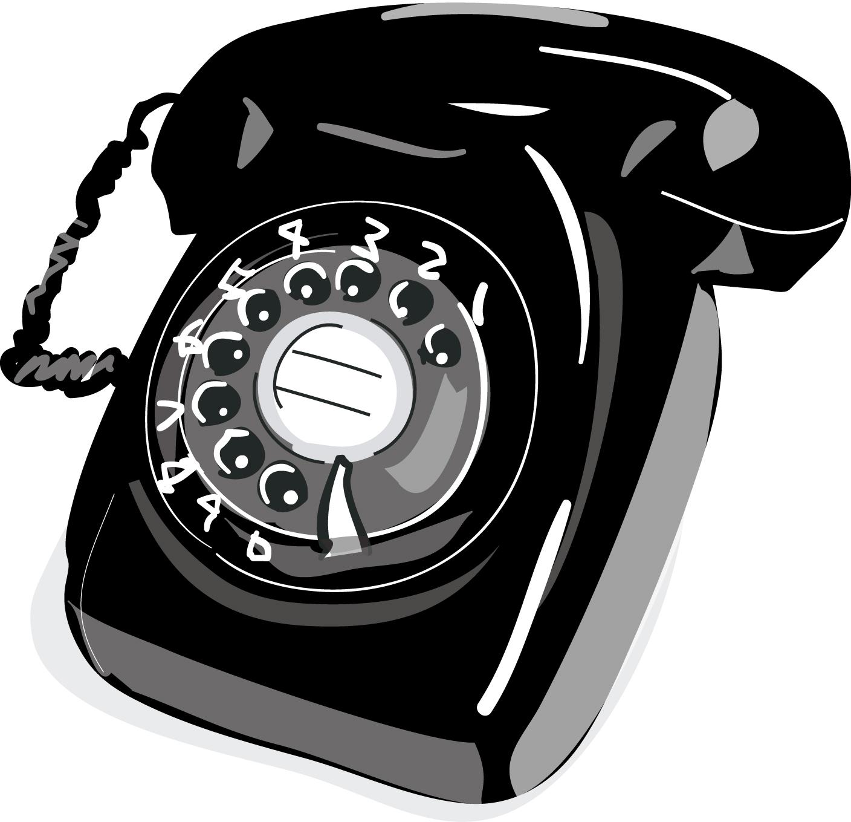 黒電話-ダウンロード|かわいい無料イラスト 印刷素材
