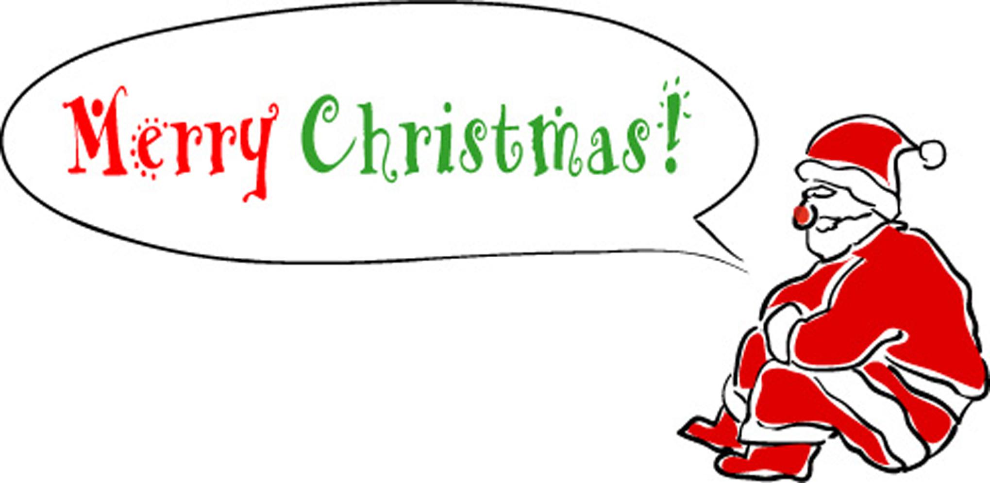 無料イラスト素材「クリスマス・ふきだしサンタ」ダウンロード