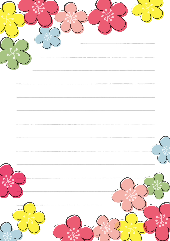 便箋テンプレート「カラフルな ... : キャラクター 便箋 ダウンロード : すべての講義